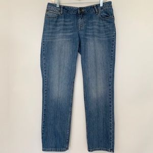 J. Jill Skinny Distressed Blue Jeans